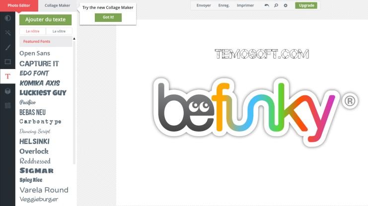 بي فانكي, موقع تعديل الصور, الكتابة عليها, موقع BeFunky اون لاين