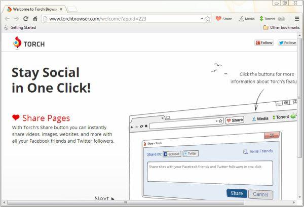 تحميل برنامج تورش مجانا للكمبيوتر Download Torch Browser مجانا