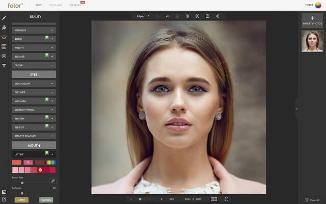 تعديل الصور اون لاين Fotor Photo Editor Online