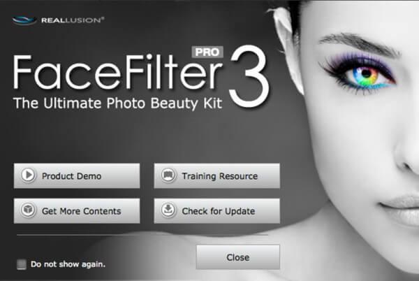 برنامج تجميل الصور الشخصية ، تنزيل Facefilter ، برنامج تصفية الوجه