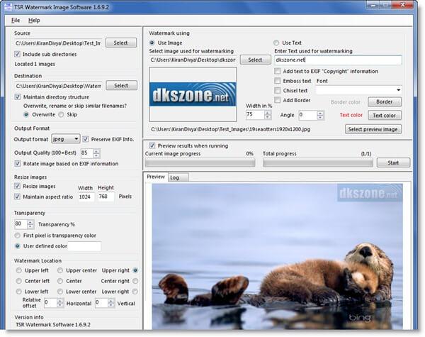 برنامج إضافة العلامات المائية للصور ، Download Tsr Watermark Image