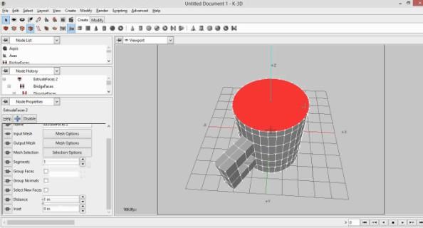 برنامج تصميم الرسوم المتحركة ، Download K-3d ، أشكال ثلاثية الأبعاد