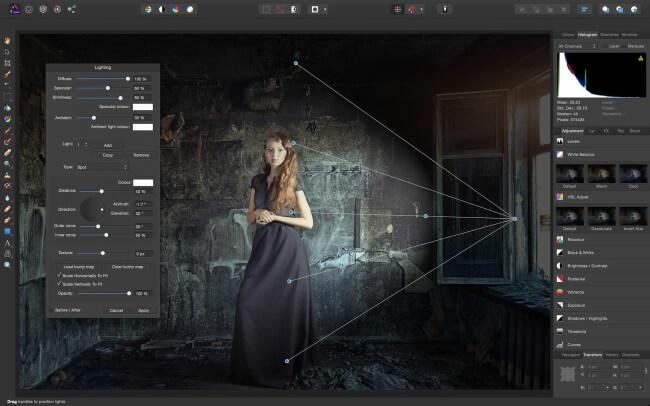 برنامج تعديل الصور وتصميمها ، تصميم الصور ، اضافة التأثيرات ، تقطيع الصور ، Download Affinity Photo