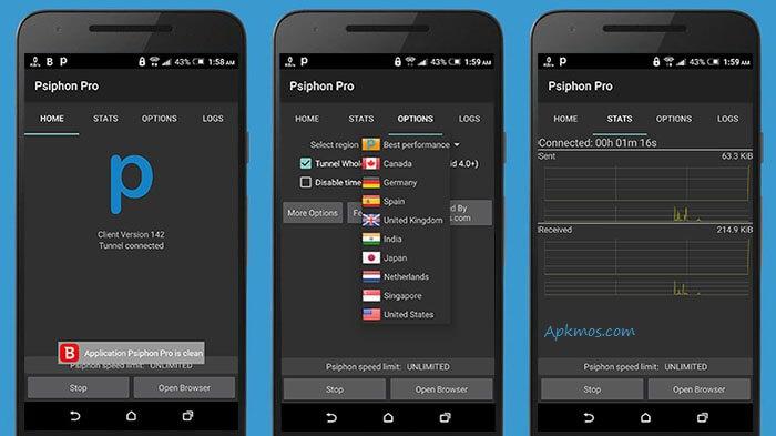 تحميل برنامج سايفون للكمبيوتر والموبايل ، Download Psiphon Computer
