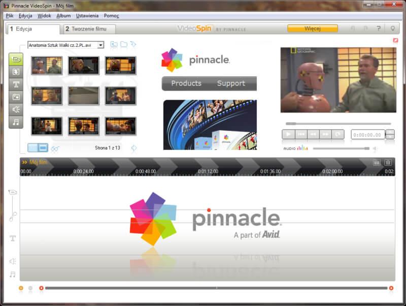 برنامج تحرير الفيديو والمونتاج ، تنزيل برنامج عمل شرائح الصور ، تقطيع الفيديو ، Download Pinnacle Video Spin