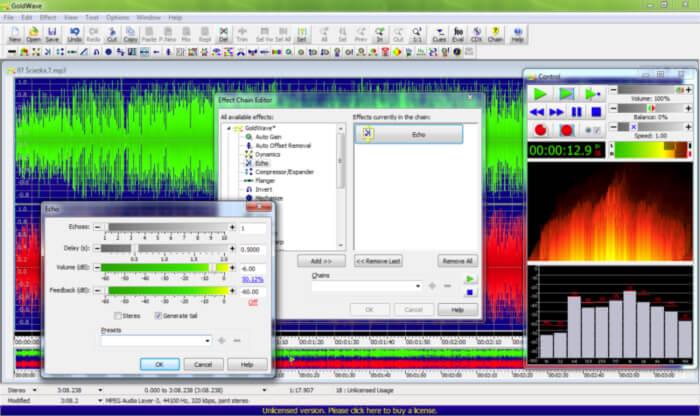 تحميل جولد ويف للكمبيوتر ، برنامج تعديل الصوت ، تسجيل من الميكروفون ، Download GoldWave
