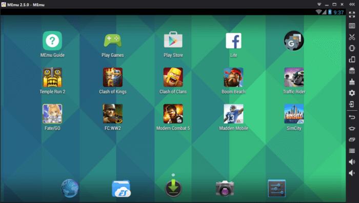 برنامج ميمو ، محاكي اندرويد ، تشغيل تطبيقات الاندرويد ، هاتف افتراضي ، memu emulator android