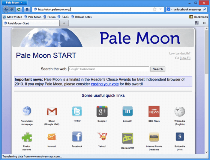 بال مون للكمبيوتر ، متصفح سريع ، متصفح بال مون عربي ، Pale Moon Browser