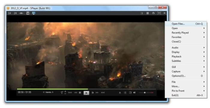 مشغل الفيديو والصوت ، تشغيل الافلام مع الترجمة ، مشغل الموسيقى ، Splayer