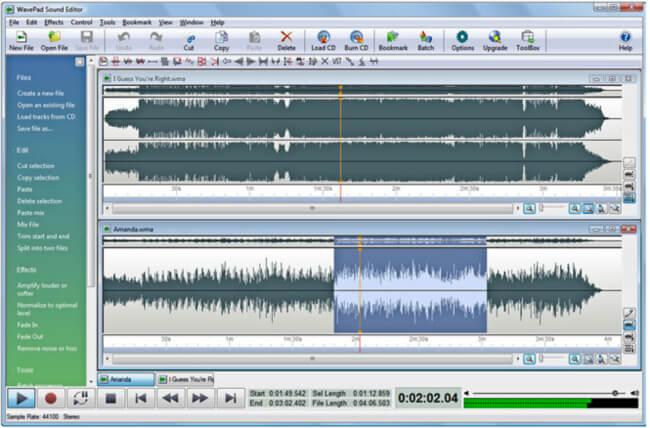 برنامج تحرير الصوتيات للكمبيوتر ، اضافة مؤثرات صوتية ، دمج ملفات الصوت ، Download Wavepad