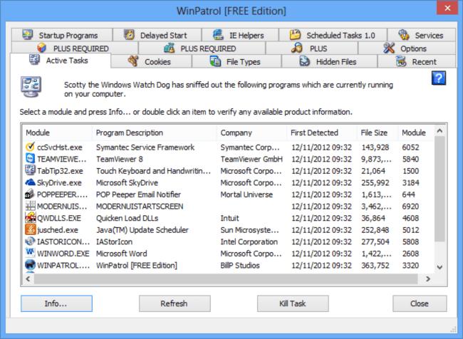 حماية الكمبيوتر من الفيروسات ، صد الهجمات الاكترونية ، التحكم في الكمبيوتر ، WinPatrol