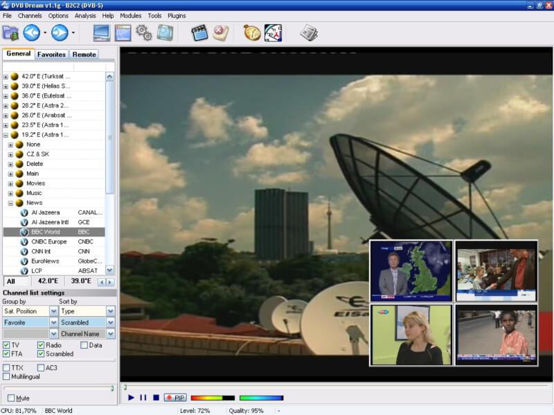 برنامج مشاهدة القنوات الفضائية على الكمبيوتر ، متابعة البث المباشر من حاسوبك ، تسجيل البث ، DVB Dream