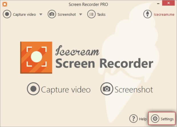 تصوير الشاشة بالفيديو ، برامج تسجيل الالعاب ، إلتقاط صور من شاشة الحاسوب ، عمل شروحات ، Icecream Screen Recorder