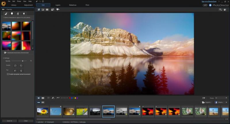 برنامج التعديل على الصور مجانا ، تنزيل برنامج فوتو دايركتور ، DOwnload PhotoDirector
