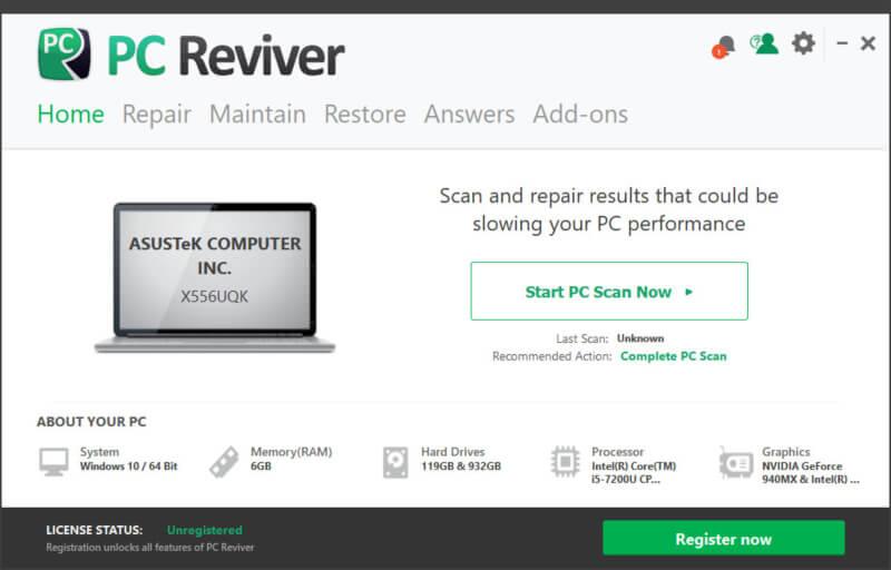 تحميل برنامج صيانة الكمبيوتر ، تحسين اداء الويندوز ، منظف القرص الصلب ، Download Pc Reviver