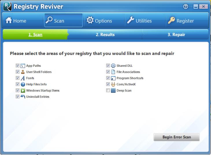 برنامج صيانة وتنظيف الريجستري 2021 Registry Reviver مجانا