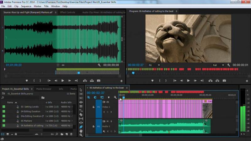 ادوبي بريمير برو ، تصميم الفيديو ، ادخال التأثيرات الاحترافية ، تحسين جودة الفيديو ، download Adobe Premiere