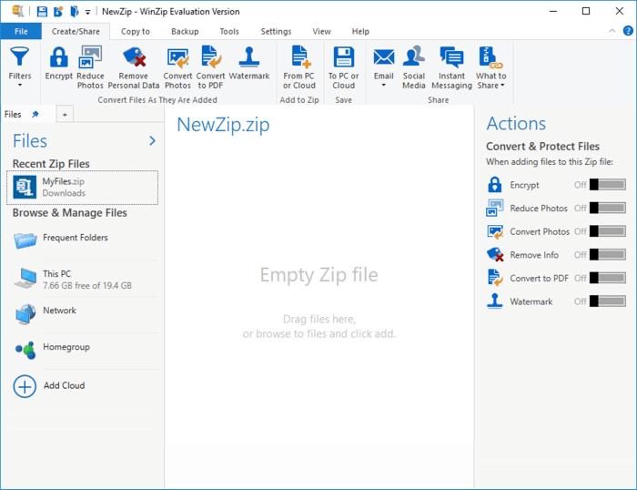 ضغط البيانات لتقليل حجمها ، فتح الملفات المضغوطة ، وين زيب اخر اصدار ، download Winzip