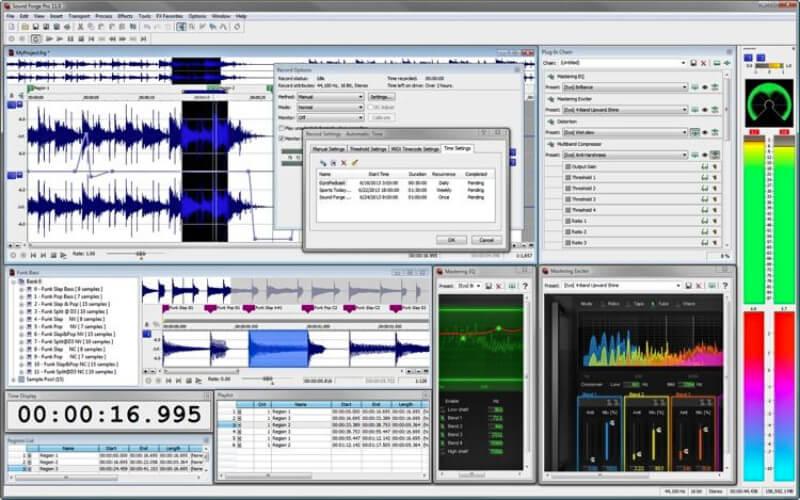 التعديل على الصوتيات ، إضافة التأثيرات ، تحسين الجودة ، ازالة الضجيج ، سوند فورج ، download Sound Forge