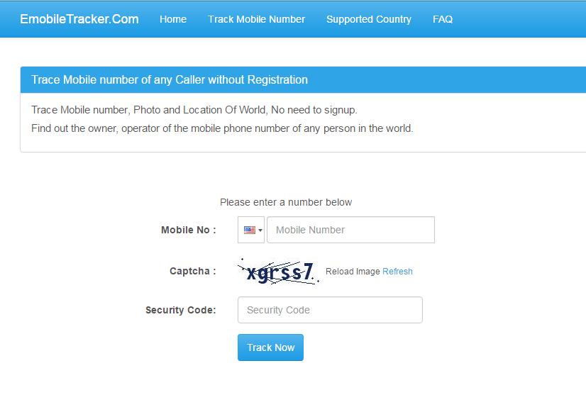 موقع معرفة إسم المتصل بك Emobile Tracker اون لاين بدون تحميل