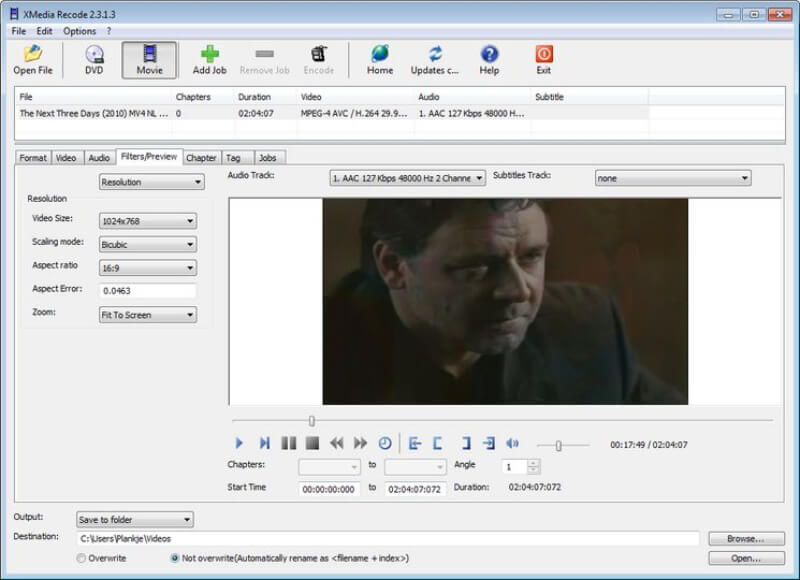 استخراج الفيديوهات من الاسطوانات ، تحويل مقاطع الفيديو ، محول الصيغ المجاني ، xmedia Recode