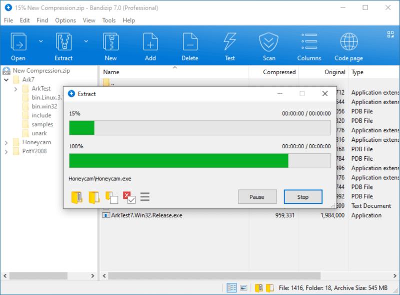 تحميل برنامج باندي زيب لفك وضغط الملفات 2021 Bandizip للكمبيوتر