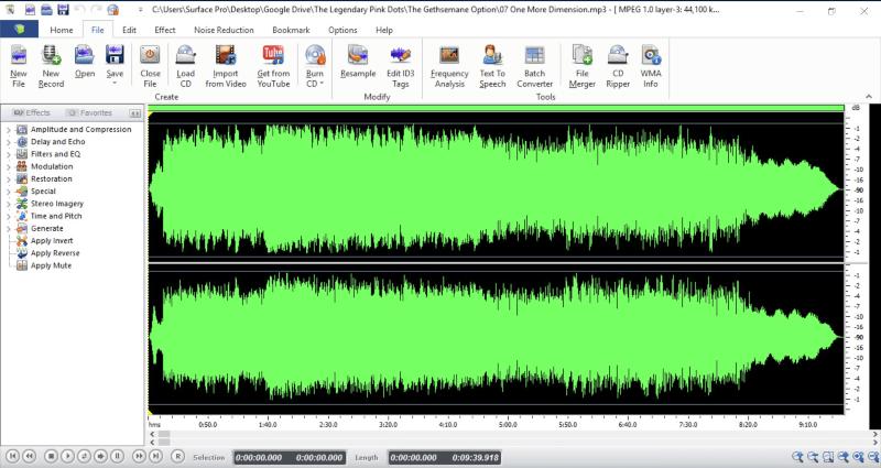 إضافة التأثيرات ، زيادة حدة الصوت ، تحويل المقاطع ، ازالة الضجيج ، قص ودمج الصوتيات ، free audio editor