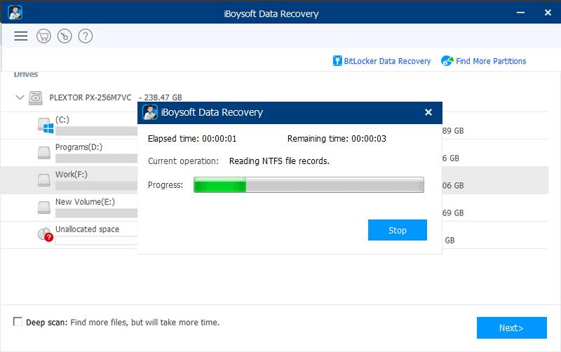 استعادة الملفات المحذوفة استرداد الصور ، افضل برنامج استرجاع البيانات ، iBoysoft Data Recovery Free