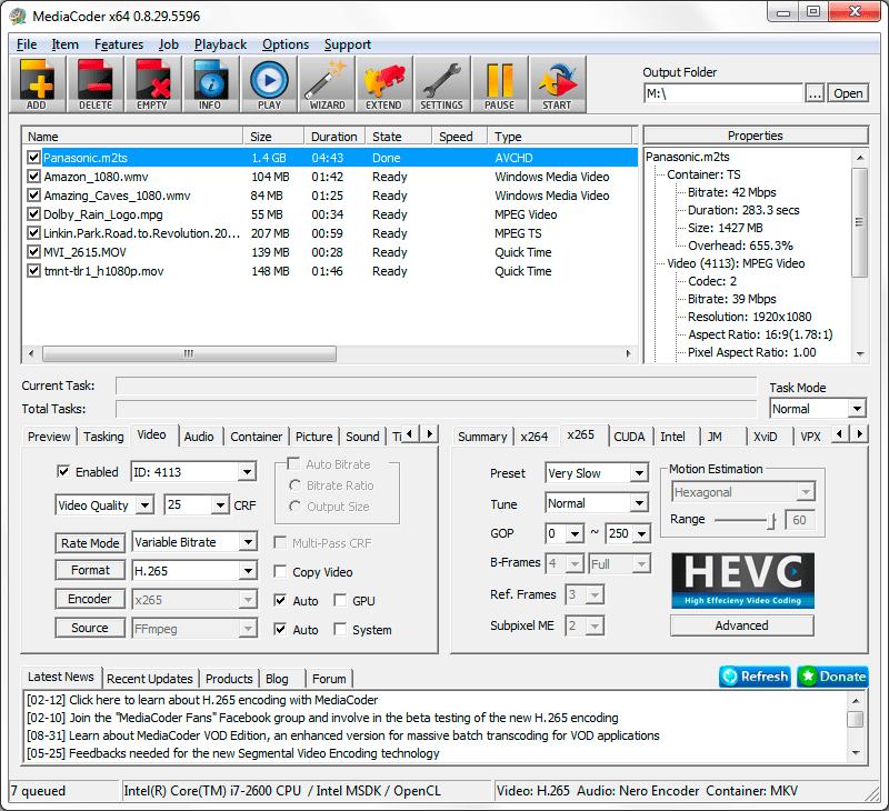تحميل افضل برنامج تحويل الفيديو والصوت 2021 MediaCoder للكمبيوتر