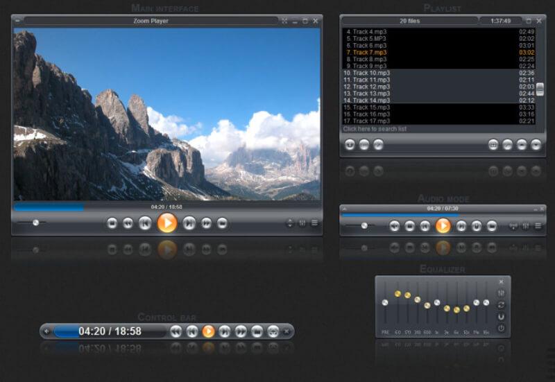 تحميل برنامج تشغيل الميديا زوم بلاير 2021 Zoom Player للكمبيوتر