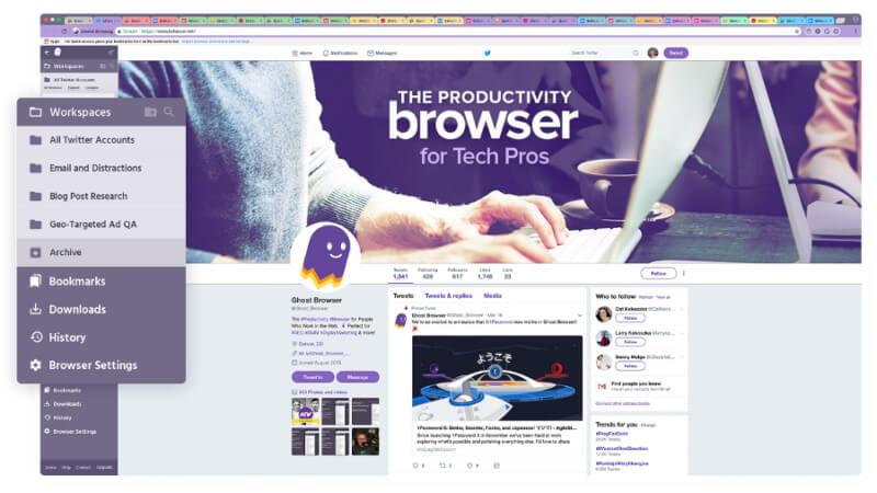 تحميل متصفح جوست براوزر 2021 Ghost Browser للكمبيوتر مجانا
