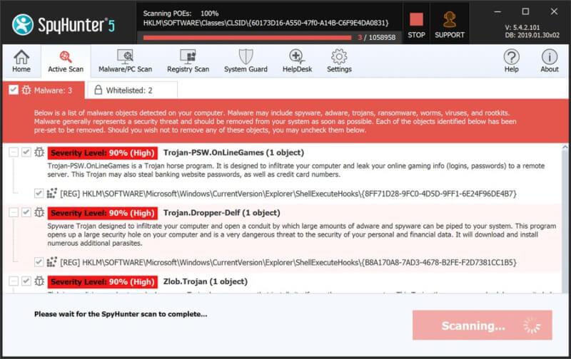 تحميل برنامج حذف ملفات التجسس 2021 SpyHunter للكمبيوتر