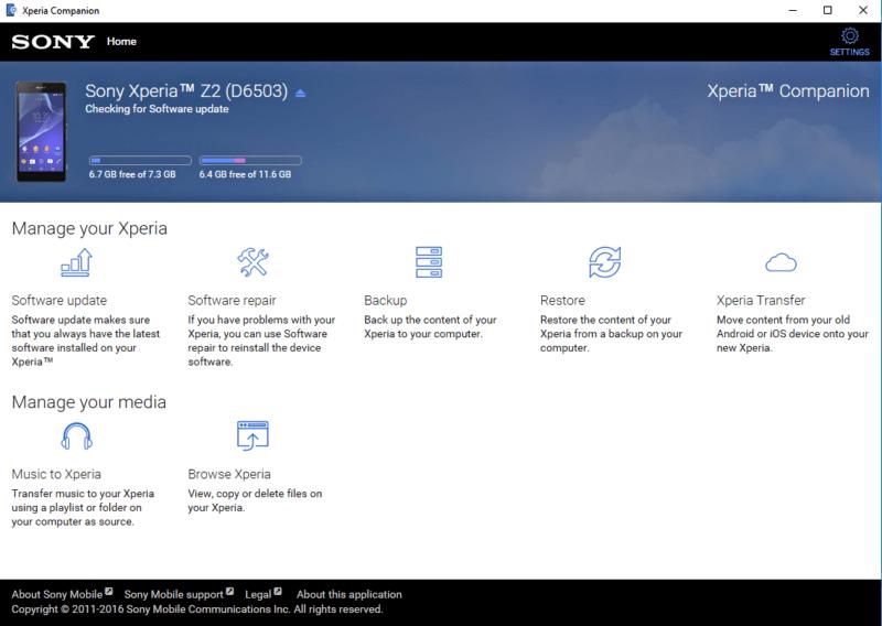 تحميل برنامج مدير هواتف اكسبريا 2020  Xperia Companion للكمبيوتر