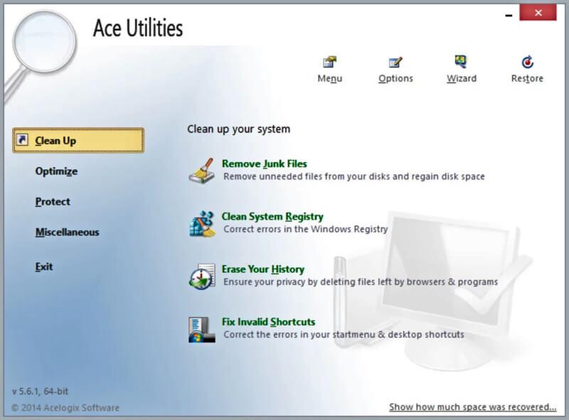 تحميل افضل برنامج تنظيف الكمبيوتر 2021 Ace Utilities اخر اصدار
