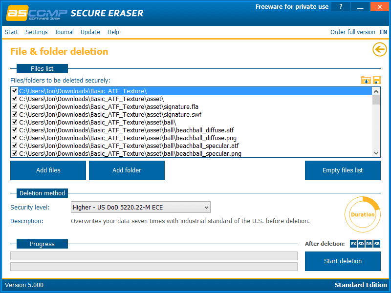 حذف الملفات الحساسة بشكل امن ، التخلص من البيانات نهائيا ، منع استرداد الصور ، secure eraser