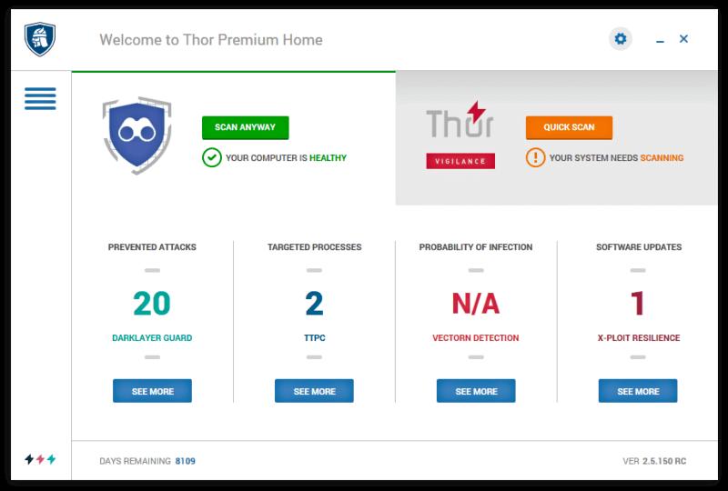 حذف التروجانات ، مكافح فيروسات قوي ، انتي فيروس ، Thor Premium Home