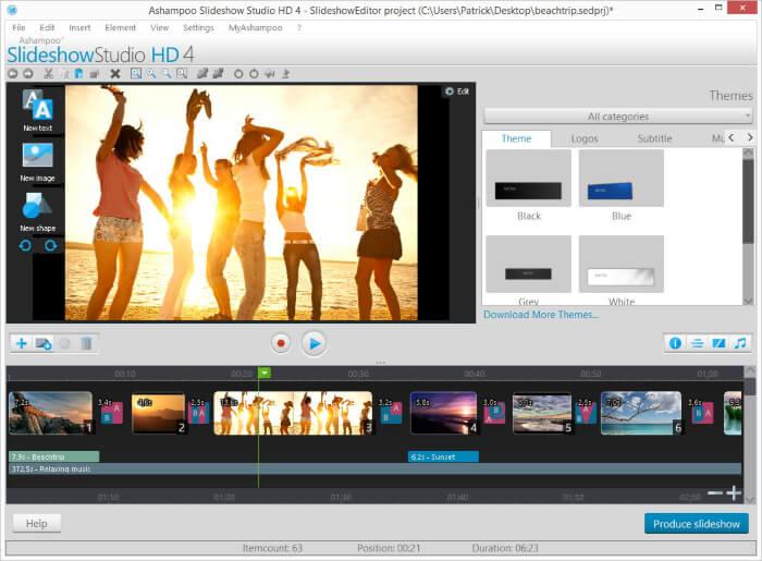 برنامج دمج الصور مع الموسيقى 2021 Slideshow Studio HD للكمبيوتر