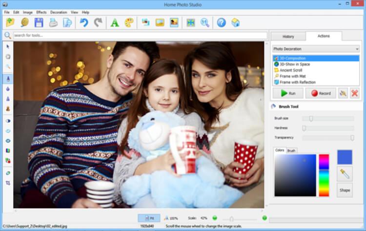 تحميل برنامج قص و تحرير الصور 2021 Home Photo Studio للكمبيوتر