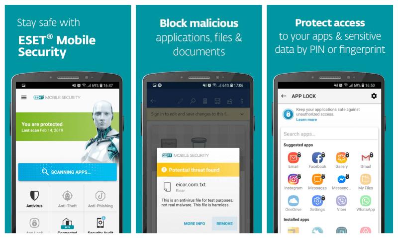 تحميل برنامج الانتي فيروس للاندرويد 2021 ESET Mobile Security