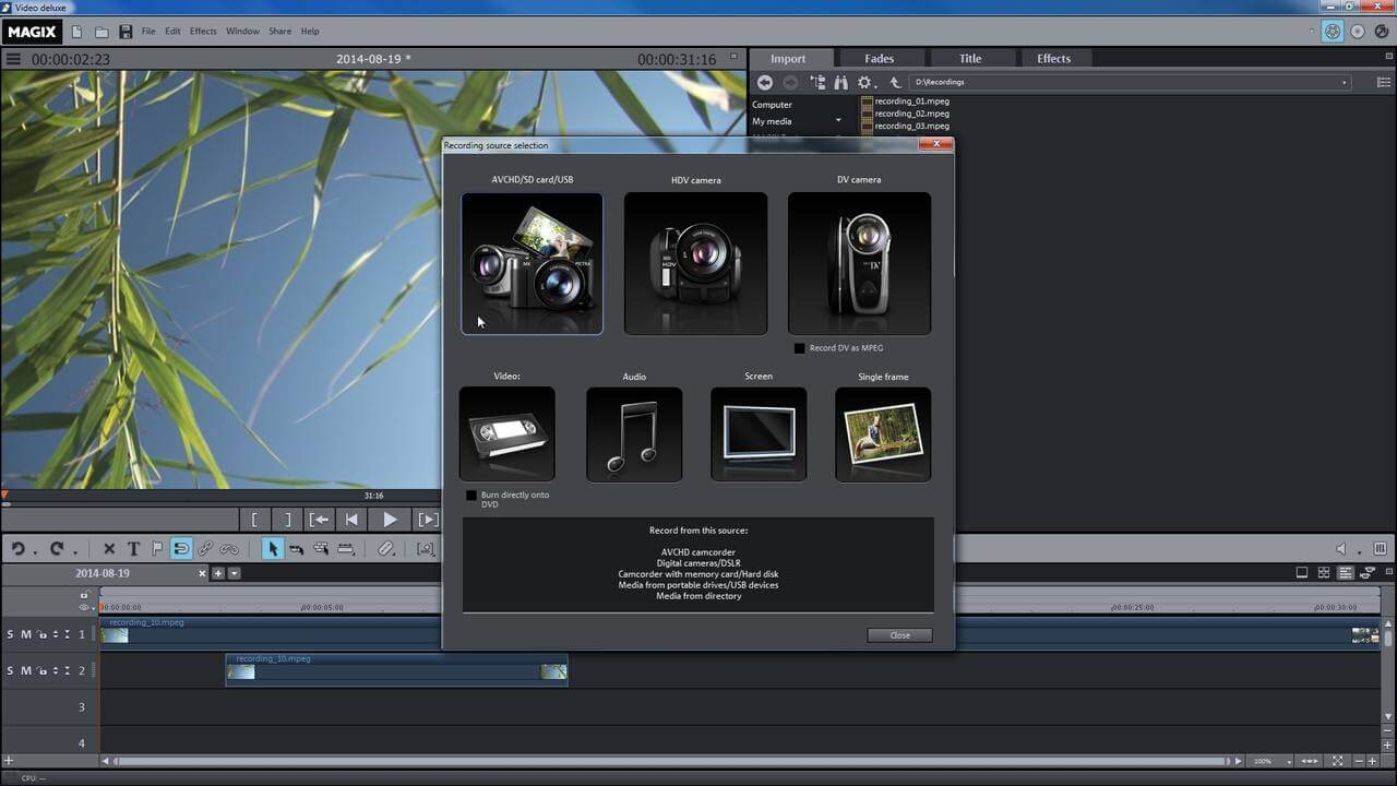 محرر الفيديو ، تنزيل برنامج تعديل الفيديو ، DOwnload Magix Movie Edit