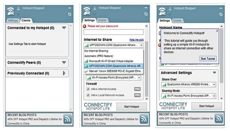 برنامج مشاركة الواي فاي عبر اللابتوب 2021 Connectify Hotspot مجانا للكمبيوتر