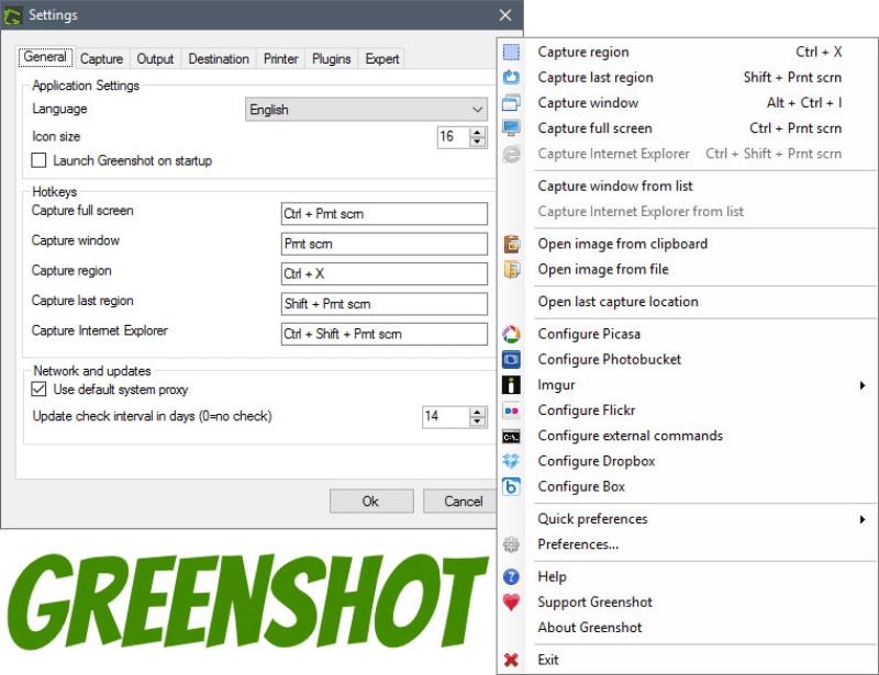 برنامج التقاط الشاشة وعمل الشروحات 2021 Greenshot مجانا للكمبيوتر