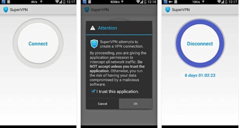 فتح المواقع المحجوبة للاندرويد ، تنزيل برنامج vpn ، تغيير الإيبي ، SuperVPN Android