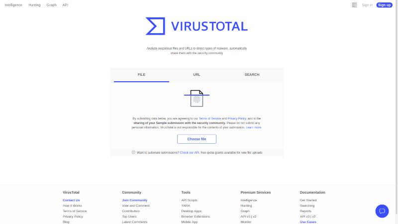 موقع فحص الملفات من الفيروسات VirusTotal اون لاين بدون تحميل