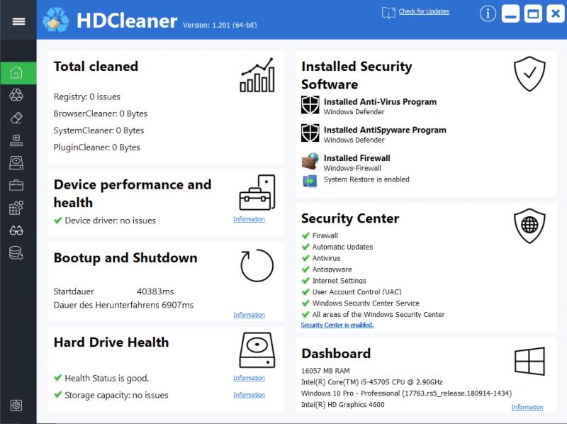 تحميل برنامج تنظيف وتحسين أداء الهارد 2022 HDCleaner
