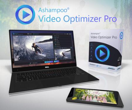 ضبط الالوان ، حل مشاكل الاهتزازا ، تدوير الفيديو ، ashampoo video optimizer