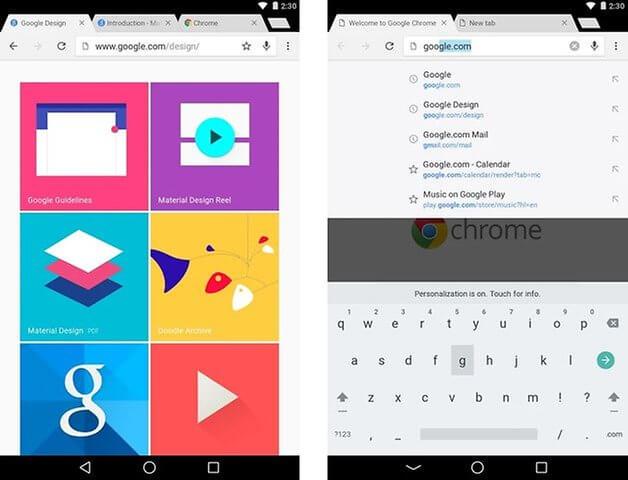 google Chrome مجانا لانظمة الاندرويد