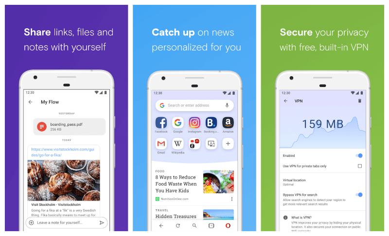 تحميل اوبرا للاندرويد مجانا ، متصفح سريع ومجاني ، opera browser android