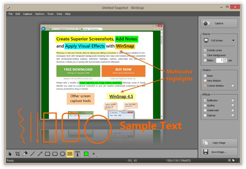 برنامج التقاط الشاشة للكمبيوتر، تنزيل برنامج WinSnap مجانا للكمبيوتر ، Download WinSnap