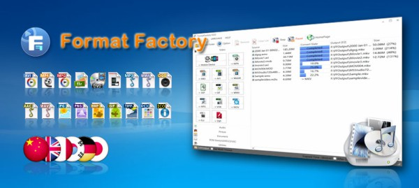 فورمات فاكتوري لتحويل الصيغ مجانا Format Factory